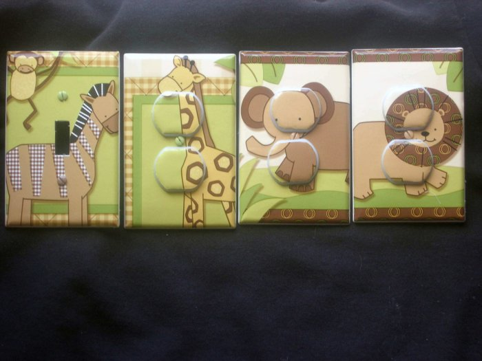 LIGHT SWITCH AND OUTLET COVERS M/W LAMBS  & IVY BABY COCOA
