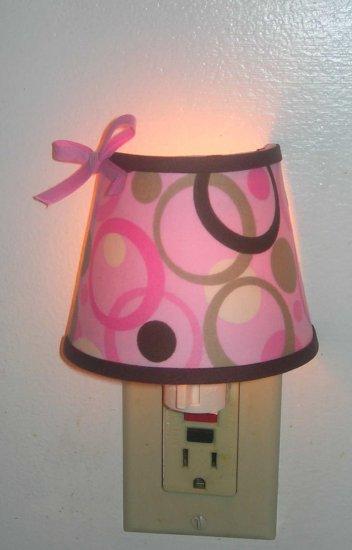 NIGHT LIGHT PINK BROWN SWIRL CIRCLE M/W GEORGE BABY