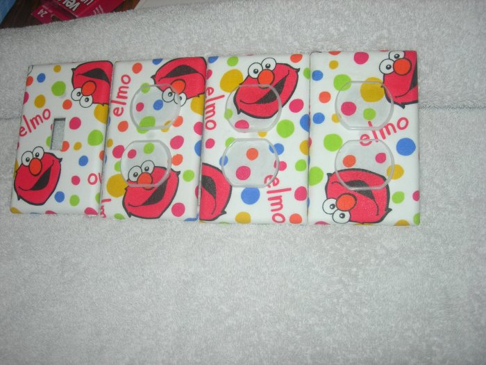 light switch covers made with elmo fabric
