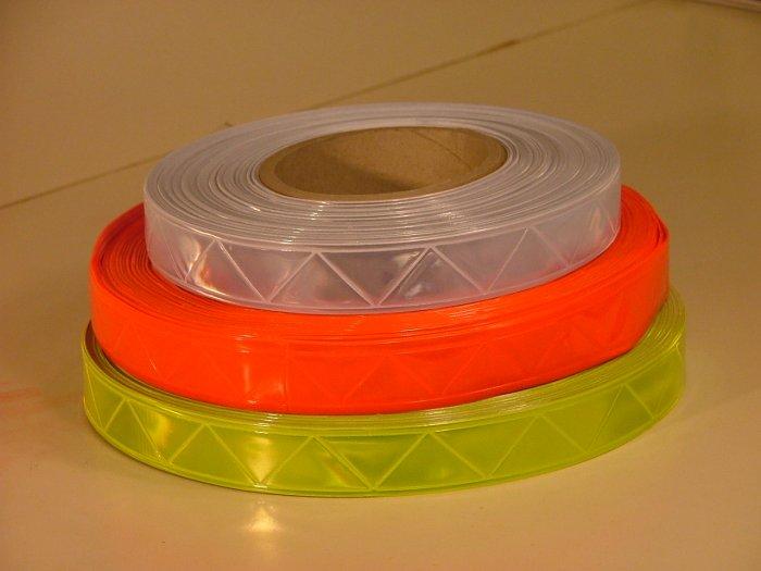 "Reflective Orange PVC High Gloss Tape 1"" x 30ft"