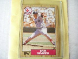 """1987 Topps """"TOM SEAVER"""" Mint -Hall of Famer"""