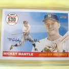 "2008 Topps ""MICKEY MANTLE"" HR # 530 MHR530 Mint"