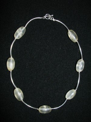 .950 Silver Necklace with Opal *EMAIL SIZE FOR AVAILABILITY AND PRICE*