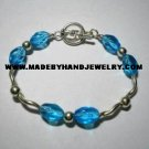 Handmade .950 Silver Bracelet with Turqoise Colored Murano