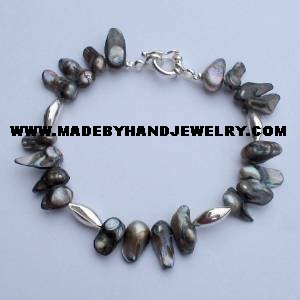 .950 Silver Bracelet with Nacar *EMAIL SIZE FOR AVAILABILITY AND PRICE*