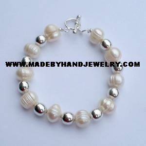 .950 Silver Bracelet with River Pearls *EMAIL SIZE FOR AVAILABILITY AND PRICE*