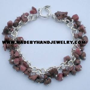 .950 Silver Bracelet with Clorodosite *EMAIL SIZE FOR AVAILABILITY AND PRICE*
