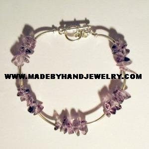 .950 Silver Bracelet with Amethyst *EMAIL SIZE FOR AVAILABILITY AND PRICE*