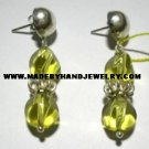 .950 Pure Silver Earrings with Yellow colored Murano