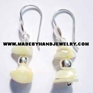 .950 Pure Silver Earrings with Nacar