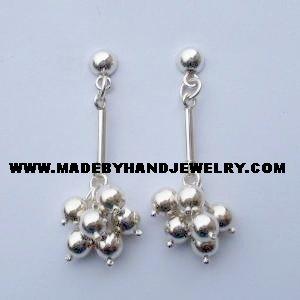 .950 Pure Silver Earrings (No. 6)