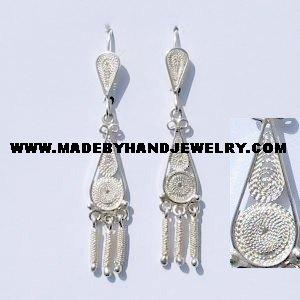 .950 Pure Silver Earrings
