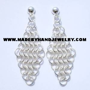 Handmade .950 Pure Silver Earrings