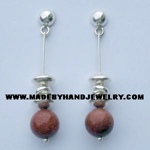 .950 Pure Silver Earrings with Gold Rain