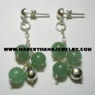 .950 Pure Silver Earrings with Jade