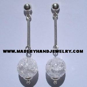 .950 Pure Silver Earrings with Quartz