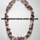 Handmade .950 Silver Necklace with Lavander Colored Murano