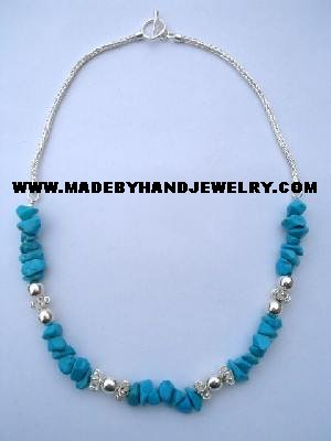 .950 Silver Necklace with Turqoise *EMAIL SIZE FOR AVAILABILITY AND PRICE*