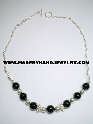 .950 Silver Necklace with Black Onyx *EMAIL SIZE FOR AVAILABILITY AND PRICE*