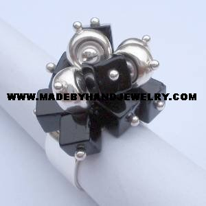 .950 Silver Ring with Murano *EMAIL SIZE FOR AVAILABILITY AND PRICE*