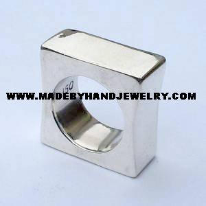 .950 Semi-Square Silver Ring