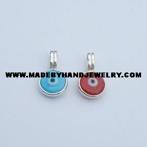 .950 Silver Pendant with Murano