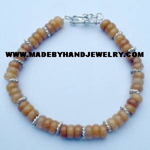 .950 Silver Bracelet with Yellow Jasper *EMAIL SIZE FOR AVAILABILITY AND PRICE*