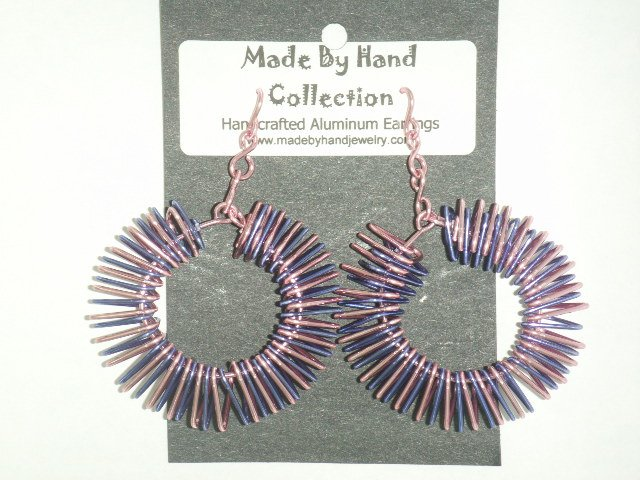 Cotton Candy Pink/Skittle Purple Donut Design Aluminum Earrings -FREE SHIPPING-