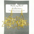 Sunrise Yellow Single Star Design Aluminum Earrings -FREE SHIPPING-