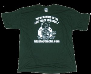 Forest Green Irishtoothache T-shirt