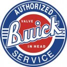 "BUICK AUTHORIGED SERVICE 11.75"" Dia. ROUND  TIN SIGN    ""FREE SHIPPING"""