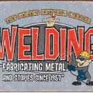 "BKG - Welding 16""Wx12.5""H  TIN SIGN ""FREE SHIPPING"""