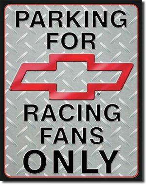 """Chevy Racing Parking 12.5""""W x 16""""H TIN SIGN """"FREE SHIPPING"""