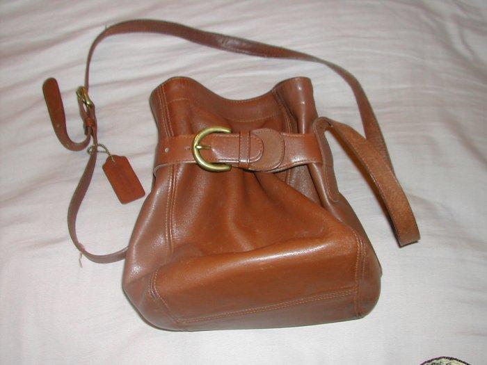 Coach walnut/brown leather small purse handbag Item # 4156