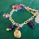 "Handmade beaded charm bracelet - ""Be Good"""