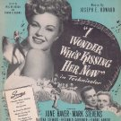 I Wonder Who's Kissing Her Know 1947 Movie Sheet Music with June Haver and Mark Stevens