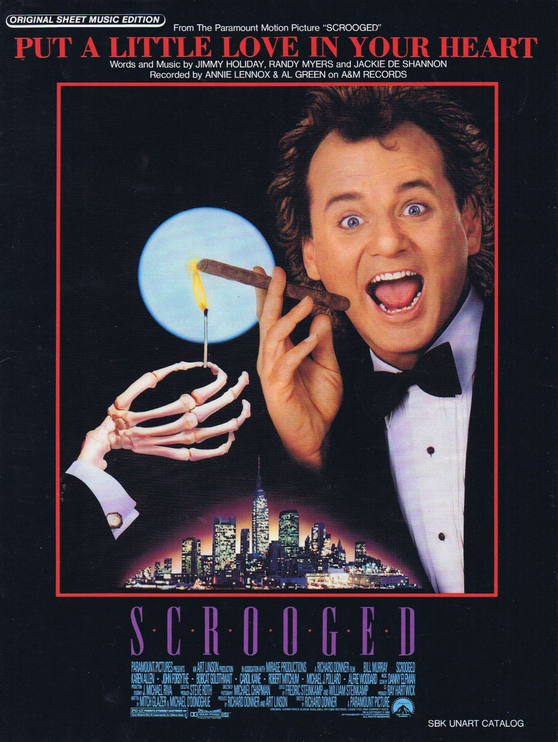 Put a Little Love in Your Heart Sheet Music from Scrooged with Bill Murray