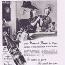 1937 Hired Root Beer 5 cents Soda Original Vintage Advertisement with High School Sisters