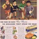 1937 Nucoa Margarine Original Vintage Advertisement with Vintage Dressed Schoolchildren