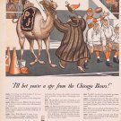 1941 Paul Jones Whiskey Original Vintage Advertisement with Chicago Bears Football Fan and Camel