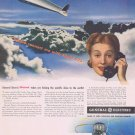 1942 Flight 625 of the Future WW2 Original Vintage Ad by General Electric Electronics and Radios