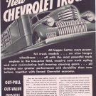 1941 Chevrolet Heavy-Duty Trucks Original Vintage Advertisement on Longer Wheelbases