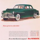 1949 New Plymouth Automobile Original Vintage Advertisement with Great-Looking Green Car