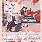 1941 Pontiac Automobile Original Vintage Ad with Neat Black Scottish Terrier Dog for 828 Dollars
