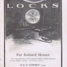 Orbin Locks 1912 Original Vintage Advertisement for Isolated Homes