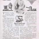 American Beauty Electric Iron 1912 Original Vintage Ad for the June Bride and Every Other Woman