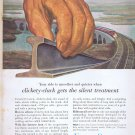 1956 Union Carbide Original Vintage Advertisement with Clickety-Clack Railway Ties with Ribbonrail
