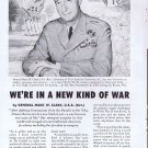A New Kind of War 1956 Original Vintage Advertisement with General Mark W. Clark