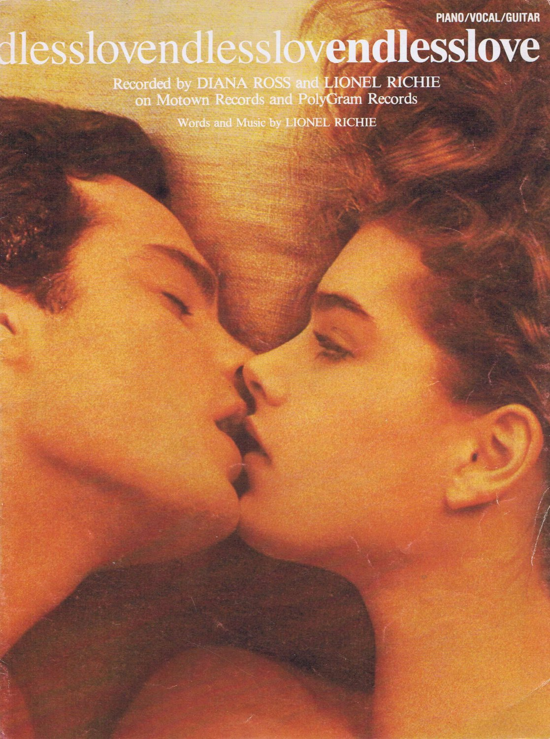 Endless Love 1981 Sheet Music by Lionel Richie with Brooke Shields Photo Cover