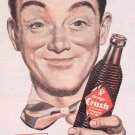 1947 Orange Crush Soda Original Vintage Advertisement with Crushy Figure
